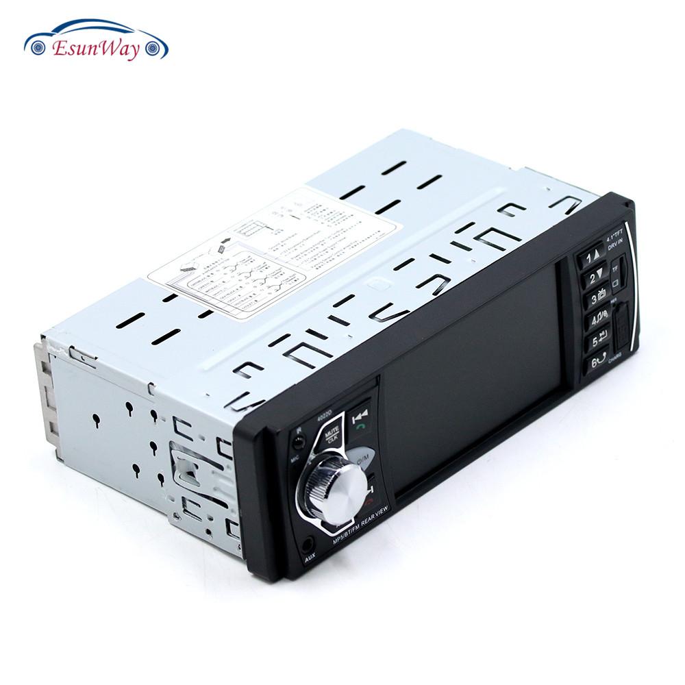 Автомагнитола 4,1 дюйма 4022D, стерео-система 1 Din с MP5, USB, AUX, FM, дистанционным управлением