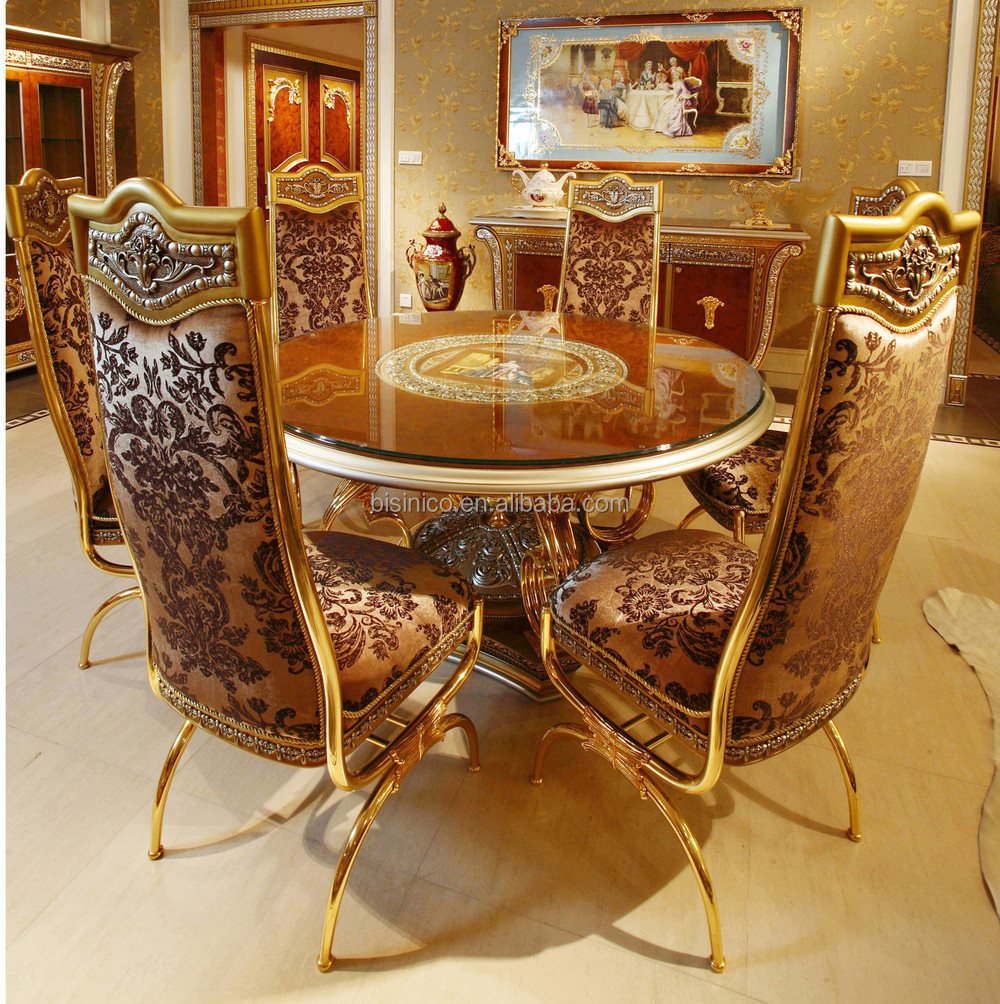 Luxury French Baroque Style Dining Room Sets Classic