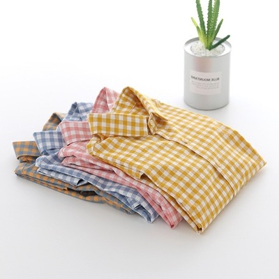 OEM Service new men's non iron regular fit oxford Gingham checked shirt with long sleeves