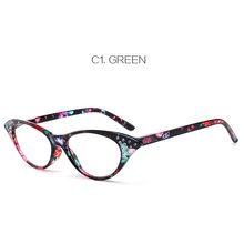 NYWOOH модные очки для чтения «кошачий глаз» Женские Имитация алмазного принта Анти-усталость дальнозоркости очки диоптрий + 1,5 2,0 2,5 3,0(Китай)