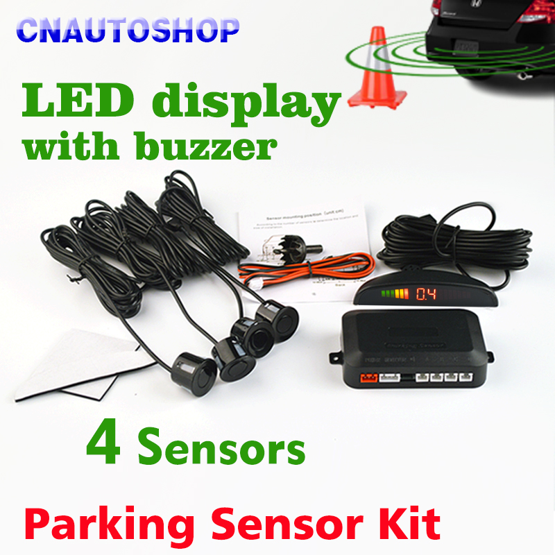 voiture led parking capteur kit affichage 4 capteurs 22mm 12 v pour toutes les voitures. Black Bedroom Furniture Sets. Home Design Ideas