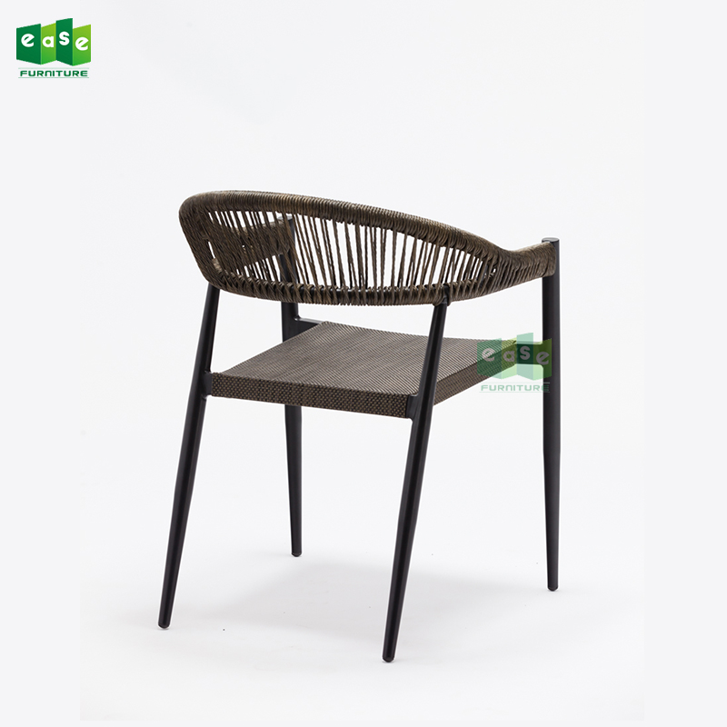 Comfortable outdoor mesh fabric dining chairs for restaurants (E7071A)
