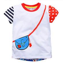 Футболка для маленьких мальчиков и девочек Little maven, летняя хлопковая Футболка с рисунком животных для маленьких мальчиков и девочек, детска...(Китай)