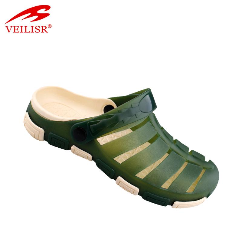 Новый дизайн, летние пляжные прозрачные сандалии из ПВХ, мужские сабо