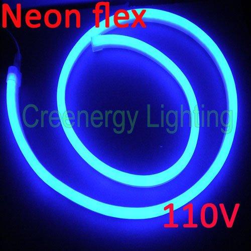 110 v bleu led neon tube 50 metros dans clairage de paysage de lumi re et clairage sur. Black Bedroom Furniture Sets. Home Design Ideas