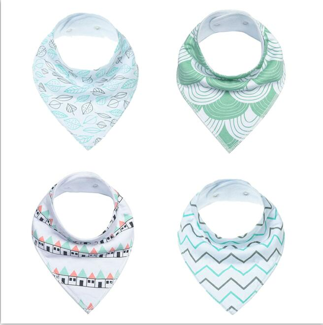 Adjustable 100% Organic Cotton pack Absorbent baby bandana drool bibs, Baby Bibs Cotton
