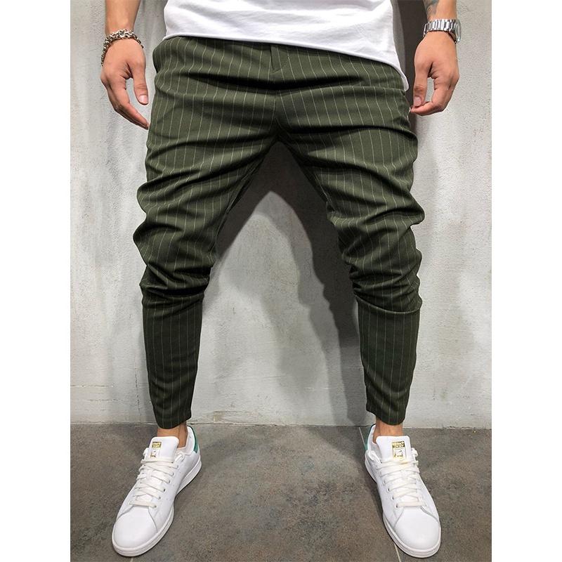 Pantalones Informales A Rayas De Color Caqui Para Hombre Moda Verde Venta Al Por Mayor Buy Pantalones Para Hombre Pantalones Verdes Pantalones Product On Alibaba Com