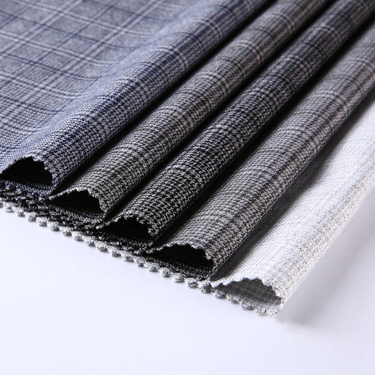 Наиболее выгодная цена, изготовленная на заказ черная двухсторонняя дышащая тянущаяся ткань для делового костюма tr