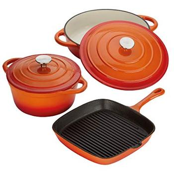 Kitchen Cast iron Cookware Set with enamel coating