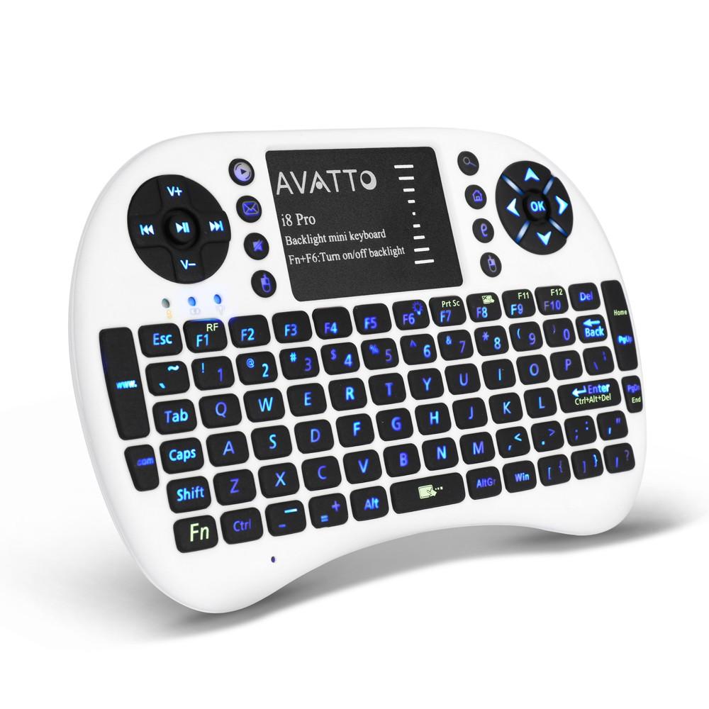 [AVATTO] Spanish/English i8 Pro Backlit 2 4G Wireless Mini
