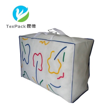 High Quality PP Woven Quilt Packaging Bag Non Woven Fabric/ Polyester Pillow Bag with Window