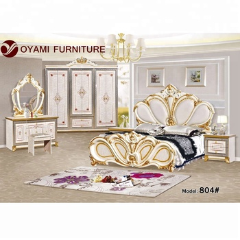 European luxury king size bedroom furniture