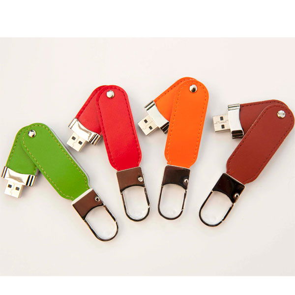 Company Gifts Key Ring Leather Usb Flash Drive 4Gb Secure Flash Memory - USBSKY   USBSKY.NET