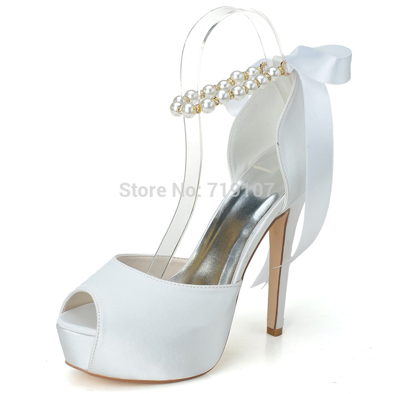 Nine West White Wedding Shoes