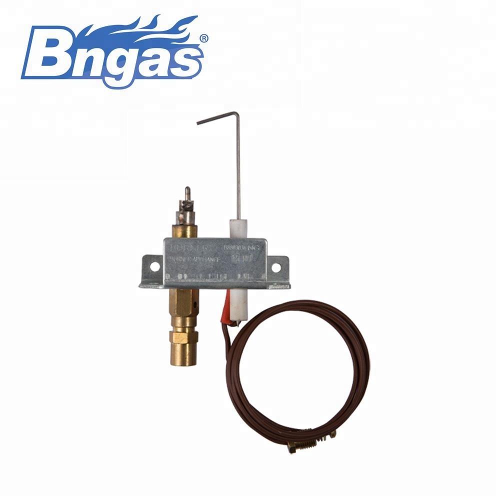 Commercial gas pilot burner oxygen depletion sensor on gas logs