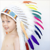 Party Colorful Indian Feather Headdress War Bonnet Costume Hat For Halloween