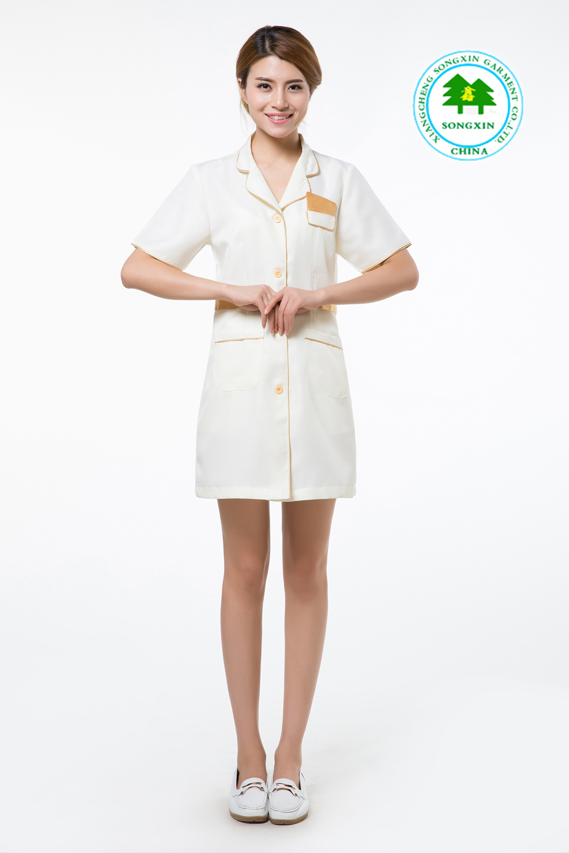 Free shipping oem salon work wear beauty salon clothing for Spa uniform fashion