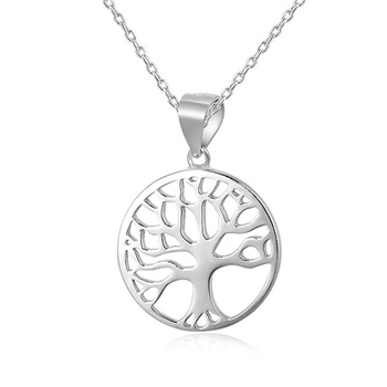 POLIVA Hot Selling Special Family Tree of Life Necklace Birthstone Cubic Zirconia Diamonds Plain 925 Sterling Silver Pendant