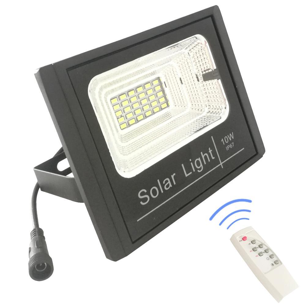 Best Quality IP67 Waterproof Outdoor Aluminum 10w 25w 40w 60w 100w LED Lamp Solar Flood Light