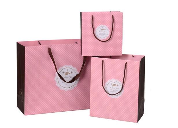h tel pas cher nice logo imprim rigide sac en papier avec poign es. Black Bedroom Furniture Sets. Home Design Ideas