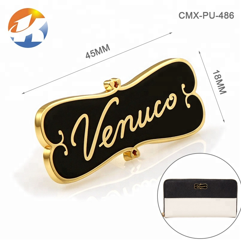 Fashion Embossed Logo Metal Label for Handbags, Custom Fashion Metal Name Plate for Bags*