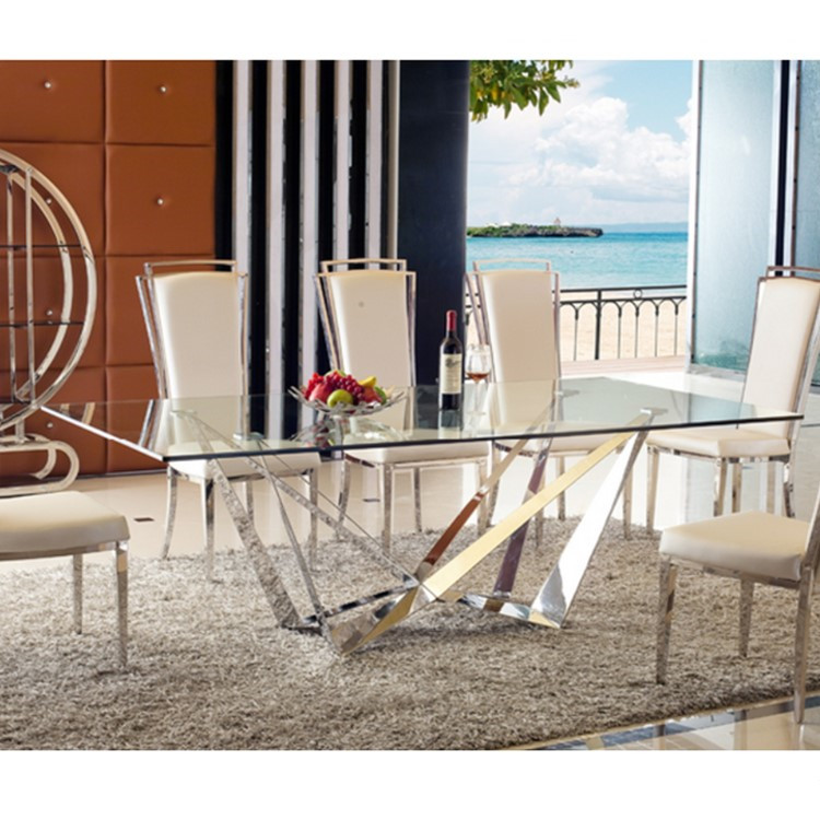 Special Spider Design Tempered Glass Top Dining Table Set With Stainless Steel Base For Home Use Buy Tempered Glass Dining Table Stainless Steel Base Unique Dining Table For Sale Product On Alibaba Com