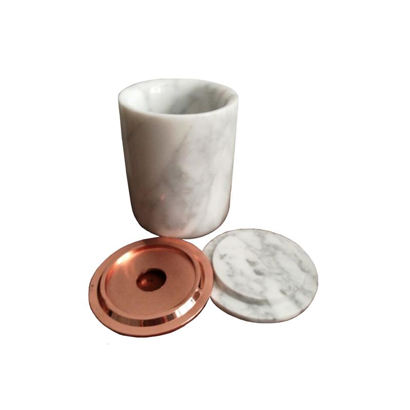 Luxury Marble Candle Jars for Wedding Decor