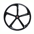 Magnesium Alloy road bike 700C wheel 5 spokes fixie Bicycle Mag TRI front rear wheel Mag