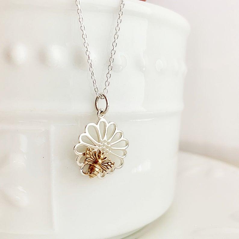 Bronze Flower Necklace