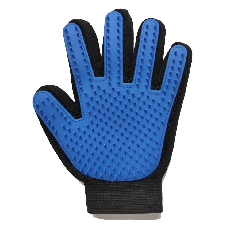 Эко-дружественных Мода изготовленный на заказ логотип резиновые 2-в-1 ПЭТ Расческа для груминга перчатки для уборки