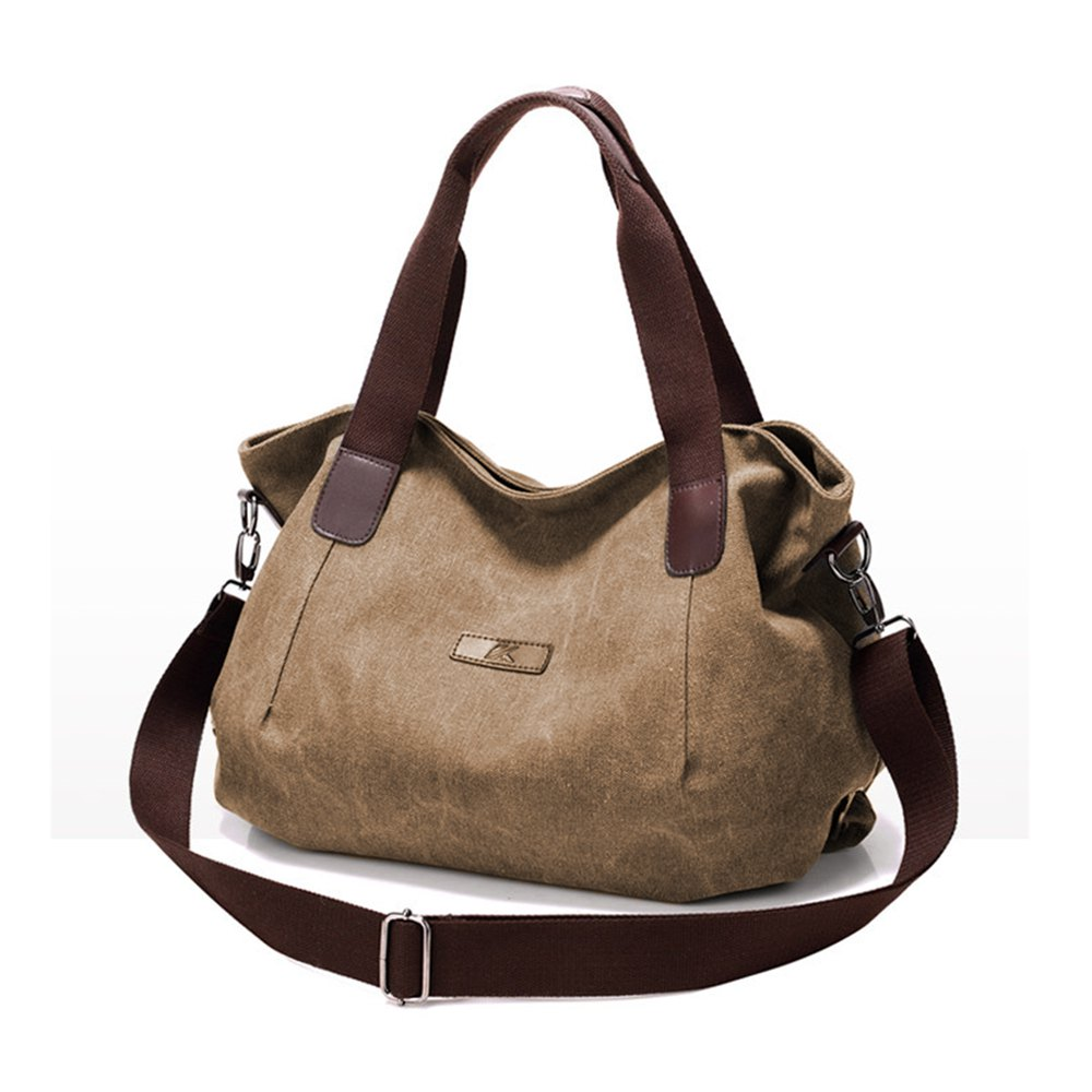 Women Canvas Shoulder Bag Large Capacity Handbag