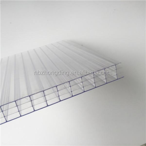 ZHONGDING fire retardancy multiwall polycarbonate sheet / panel / board