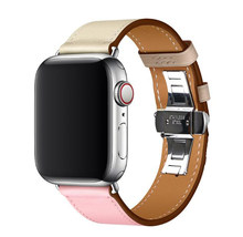 Роскошный кожаный ремешок для iWatch, ремешок для Apple Watch, ремешок серии 4/3/2/1, 38 мм, 40 мм, 42 мм, 44 мм, браслет, серия 5(Китай)