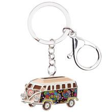 Брелок WEVENI в форме автомобиля, металлический брелок для ключей, сумка, брелок для ключей, подарок, модные аксессуары, эмалированные украшени...(Китай)