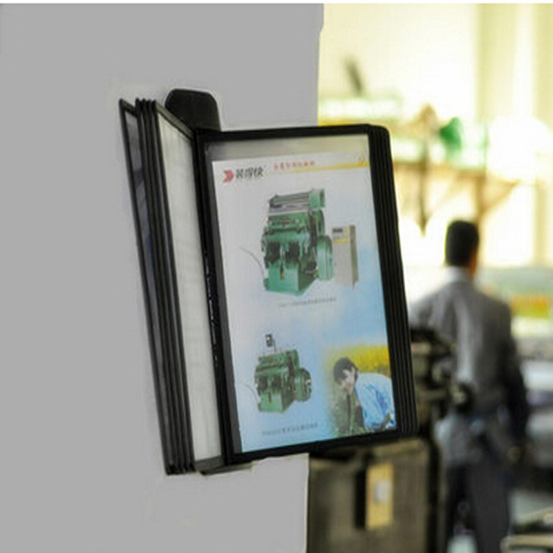 A4 Pageflip Page File Holder Wall Mounted Display Rack