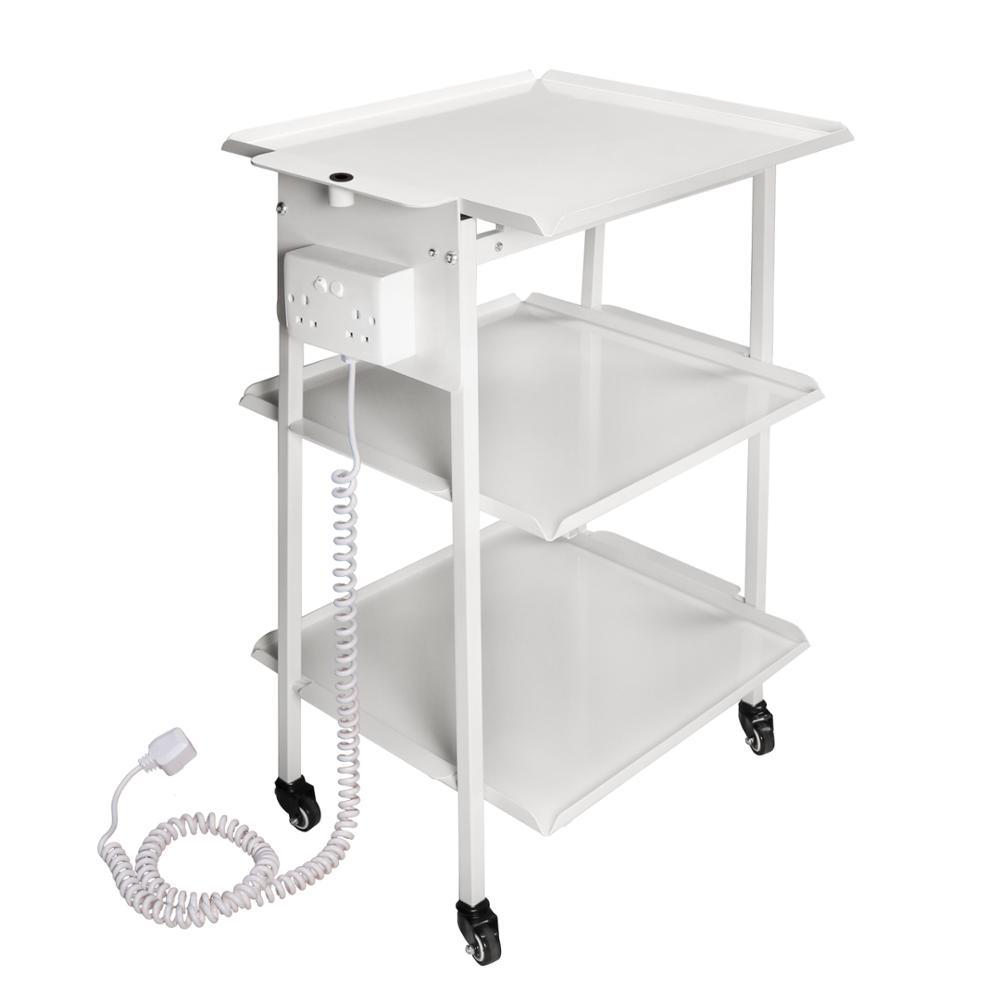 Ferran стандарта 3 полки металлическая Больничная тележка салонная тележка салон