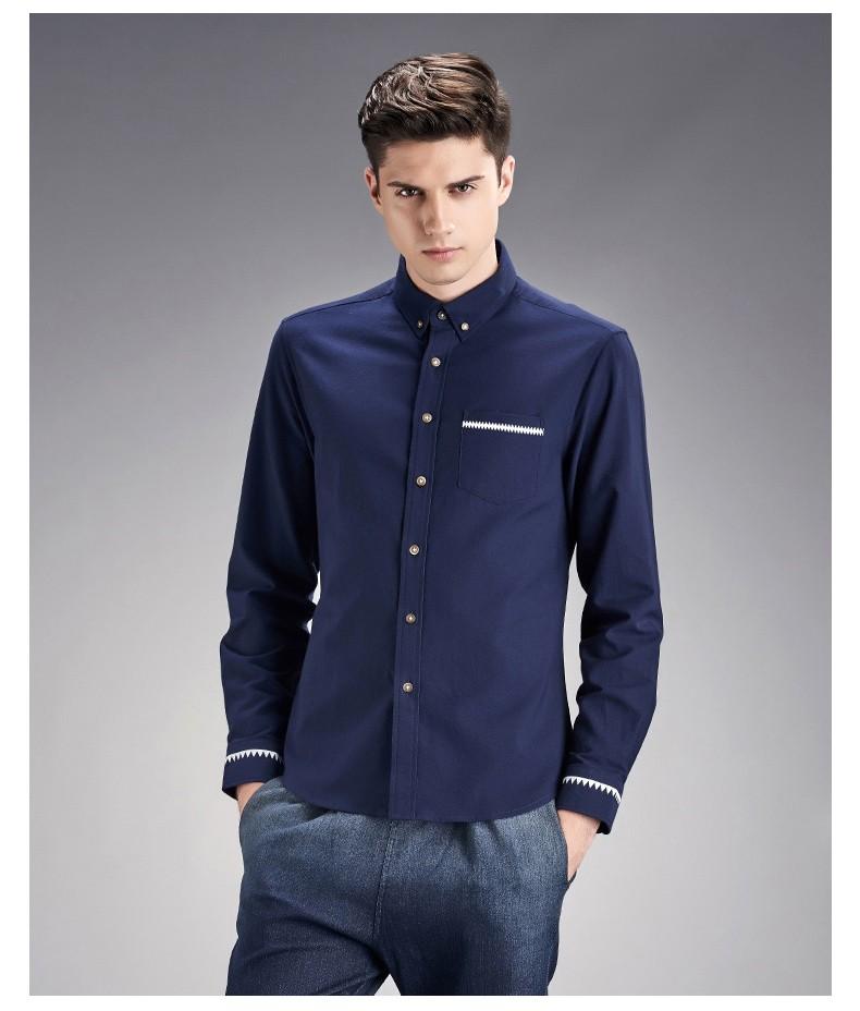 305957f61c Camisas casual para hombre ropa de marca de algodón para hombre manga larga  Plus tamaño m-4xl 2016 moda mejor camisa 1801