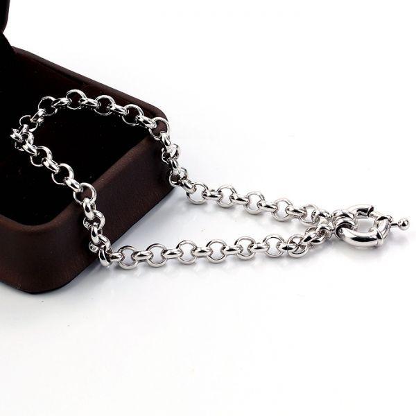 18k White Gold Filled GF Small Womens Girls Bracelet link ...