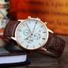 Rose gold case+ white dial+brown band