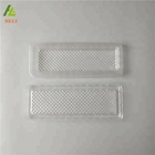 Rectangular shape clear transparent plastic biscuit tray
