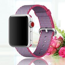Новый дышащий нейлоновый спортивный ремешок для apple watch, ремешок 44 мм iwatch 5 4 3 2 1 42 мм 38 мм, цветной ремешок с пряжкой для часов(Китай)