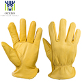 Moto Gloves The Driver Cowhide Leather Motorcycle Gloves Work Waterproof Anti Cold Anti Snowboard Hiking Hunting