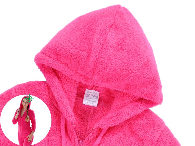 Adults Plus Size Onesie Pink Rose Red Pajama Sets Girls Autumn Winter  Fleece Warm Hooded Onesie d78f229f83822