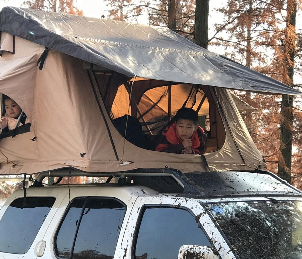 Manufacturer Camping Roof Tent Car Roof Top Side Awning Outdoors Sun Shelter Canopy Trailer