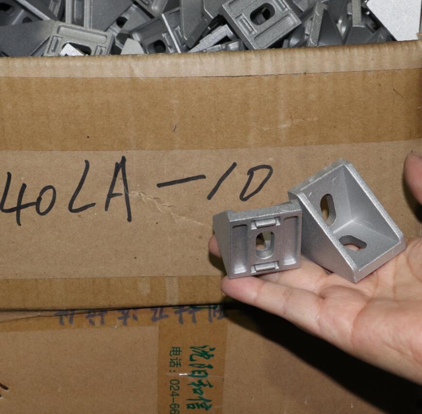 Die cast Corner Bracket for 4040 Series , Aluminum Profile accessories