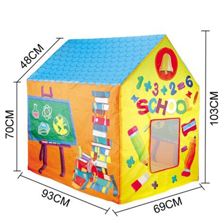 Large Indoor and Outdoor Kids Play School House Child Play Tent