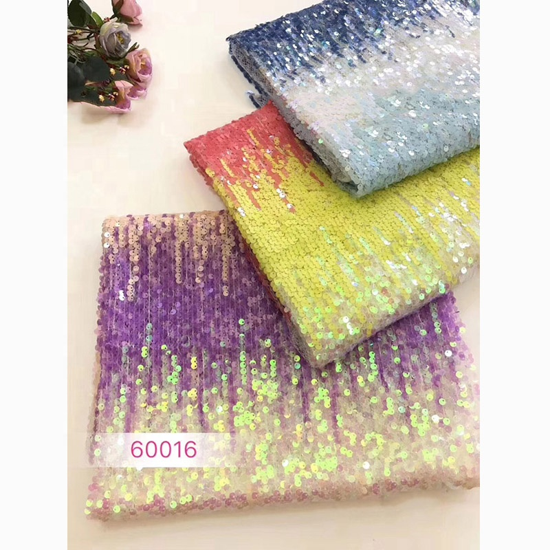 Hot Selling Good Quality Embroidery Lace Fabric Bead Tulle Sequin Fabric