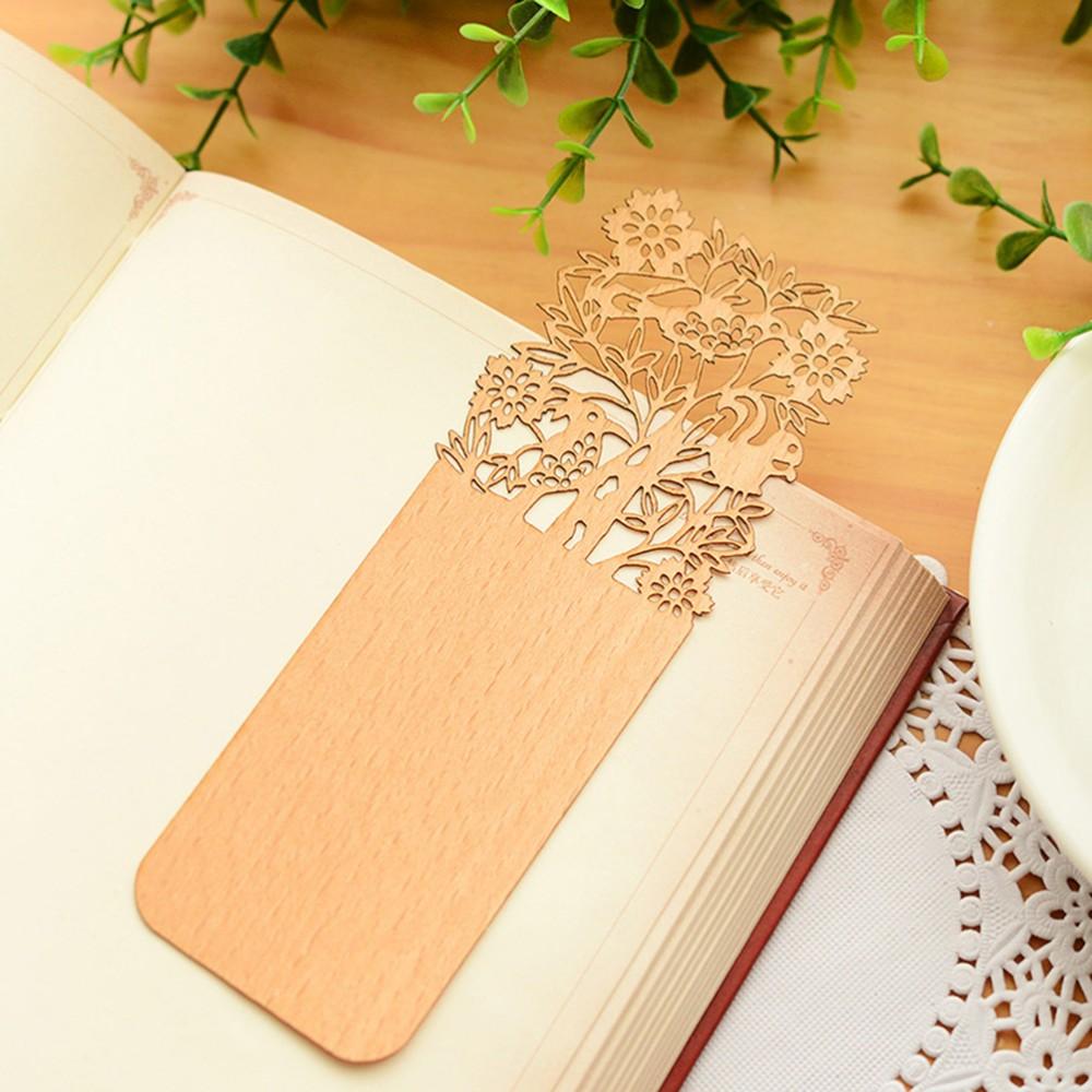 Pembatas Buku Bambu Potong Laser Kustom Grosir   Buy Bambu ...