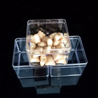 430ml 14 oz Wholesale plastic Food storage clear square PS box for cookie packaging Biscuits container