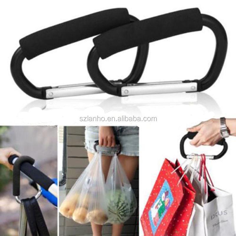Universal Large Buggy Mummy Clip Pram Pushchair Shopping Bag Hook Carabiner